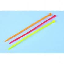 Fluorescent cable tie assortment (100-pack)