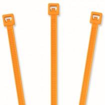 """Nylon Cable Ties - 4"""", Fluorescent Orange 20 pcs"""