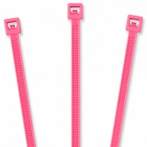 "Nylon Cable Ties - 4"", Fluorescent Pink 20 pcs"