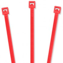 "Nylon Cable Ties - 4"", Fluorescent Red 20 pcs"