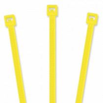 "Nylon Cable Ties - 4"", Fluorescent Yellow 20 pcs"